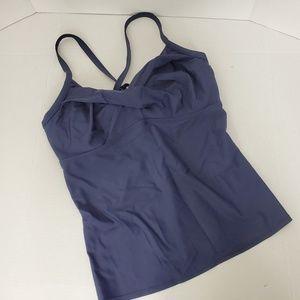 Athleta Women's  Top Size 38DD Navy Tank Top Shirt
